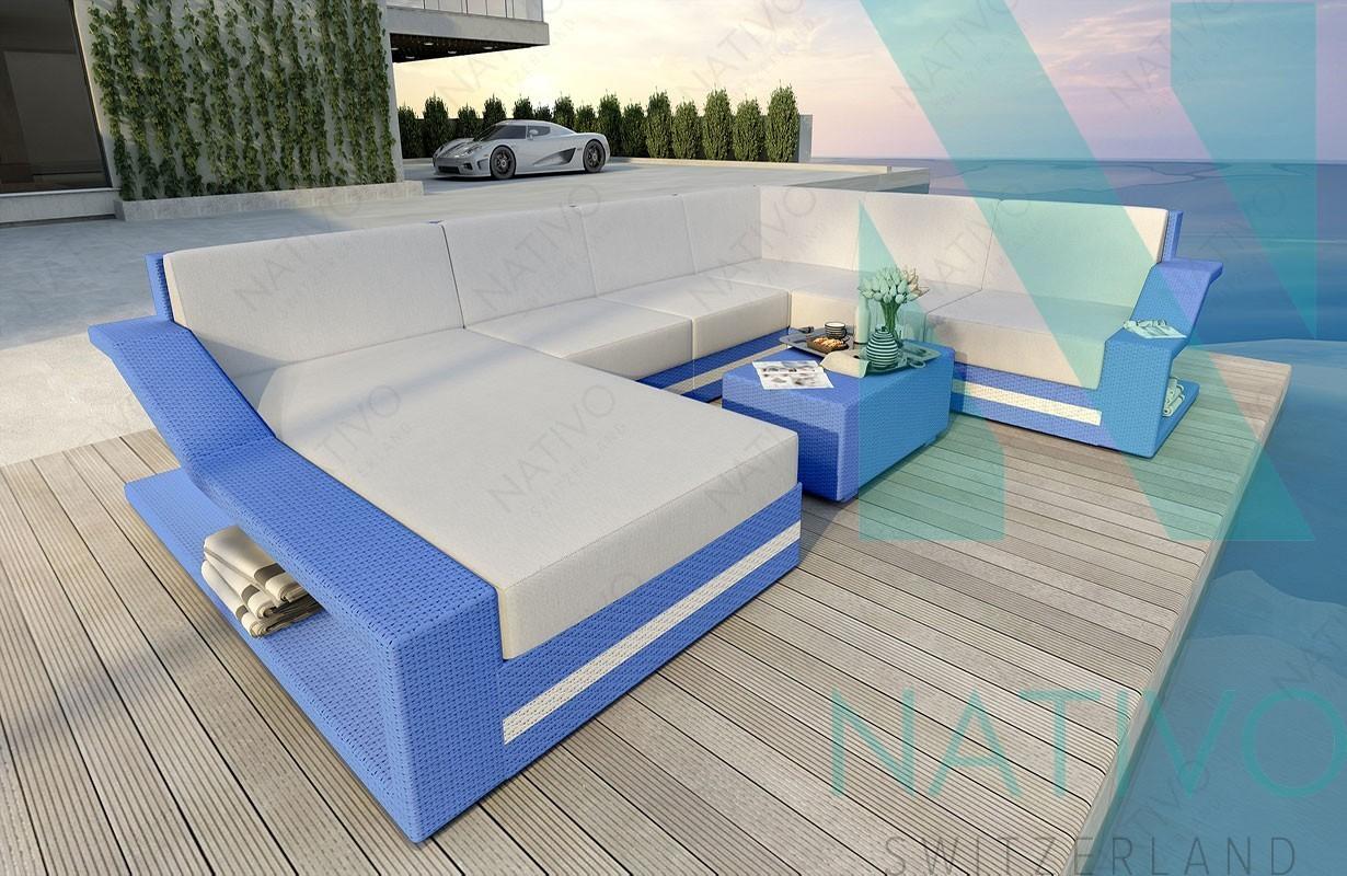 rattan sofa lounge modular mirage xxl von nativo m bel. Black Bedroom Furniture Sets. Home Design Ideas