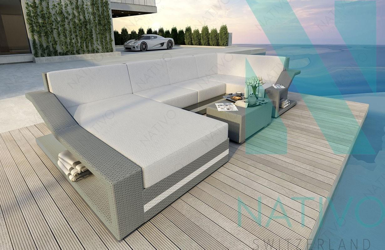 Rattan Sofa Lounge Modular MIRAGE XL von NATIVO Möbel