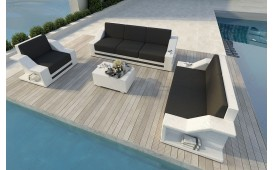 Lounge Set en rotin MIRAGE 3+2+1