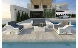 Set Lounge MIRAGE 2+1+1 in rattan