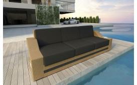 Rattan Lounge Sofa MIRAGE 3 Sitzer NATIVO™ Möbel Schweiz