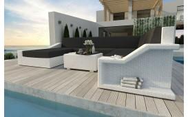Designer Rattan Lounge Sofa MIRAGE XXL v1 NATIVO™ Möbel Schweiz