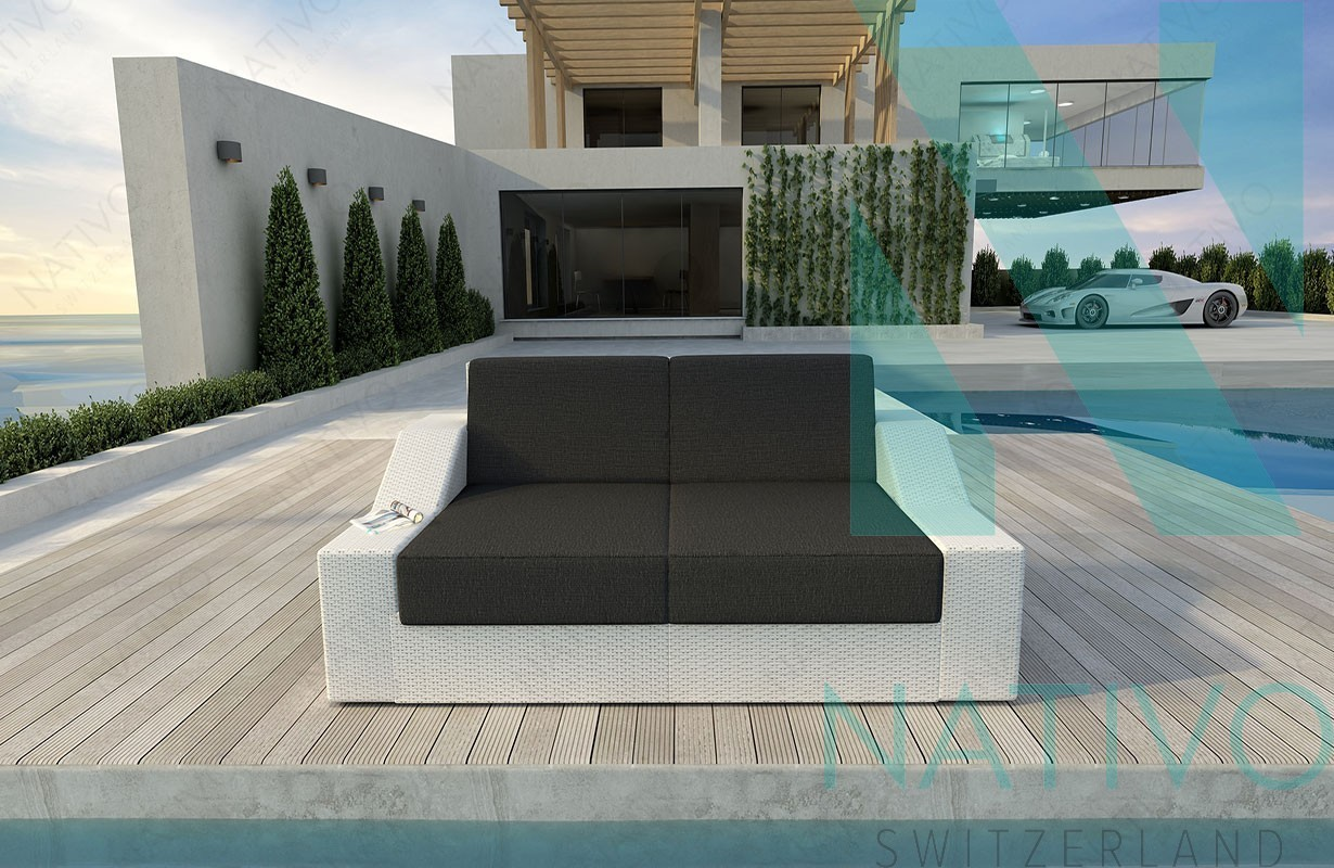 Rattan lounge sofa mirage v1 in rattan von nativo m bel for Lounge mobel 2 sitzer