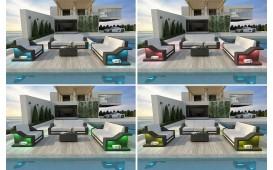 Rattan Lounge Sofa MIRAGE 1 Sitzer v1 NATIVO™ Möbel Schweiz