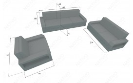 Rattan Lounge Sofa MESIA 3 Sitzer v2 von NATIVO Möbel Schweiz