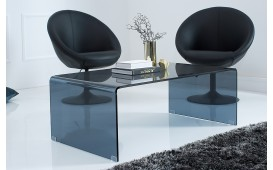 Table basse Design CLEAR 110 cm ANTHRAZIT