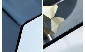 Tavolino di design CLEAR 110 cm ANTHRAZIT