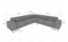 Designer Sofa GREGORY CORNER mit LED Beleuchtung NATIVO™ Möbel Schweiz