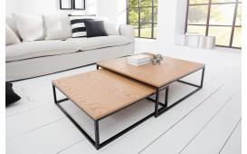 Designer Couchtisch UNITY OAK BLACK SET 2- NATIVO™ Möbel Schweiz