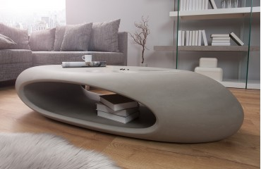 Bubble Éclairage Table Avec Design Concrete Led Basse 34Aj5LqcR