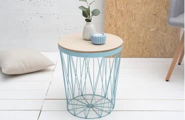 Tavolino di design CAGE II BLUE