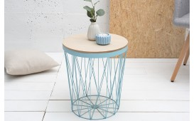 Table basse Design CAGE II BLUE