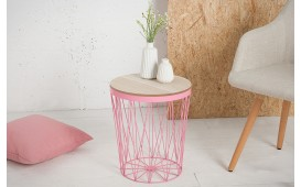 Table basse Design CAGE II ROZE