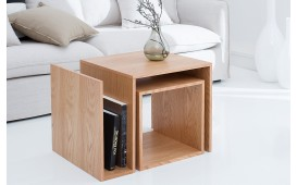 Designer Beistelltisch BLOK OAK SET 2- NATIVO™ Möbel Schweiz
