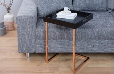 Tavolino d'appoggio di design CIARO BLACK COPPER