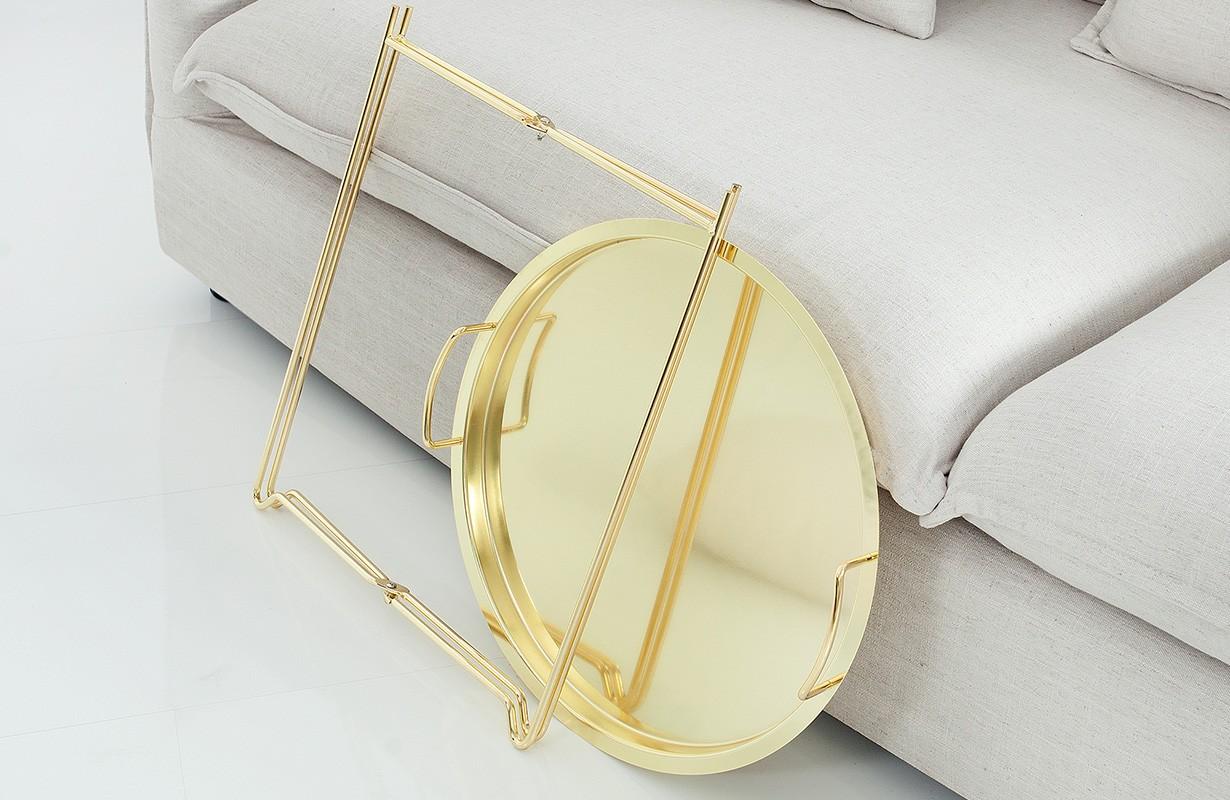 designer beistelltisch casablanca gold designer bei nativo. Black Bedroom Furniture Sets. Home Design Ideas