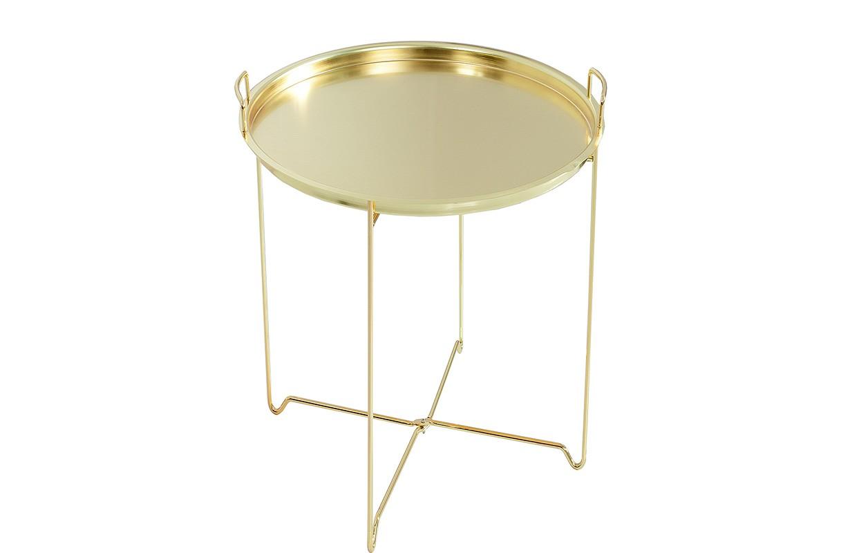 Meuble salon nativo table d 39 appoint casablanca gold for Table d appoint salon