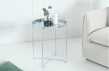 Tavolino d'appoggio di design CASABLANCA SILVER