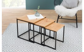 Table d'appoint Design UNITY OAK BLACK SET 3