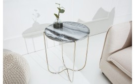 Table d'appoint Design MARMO SILVER