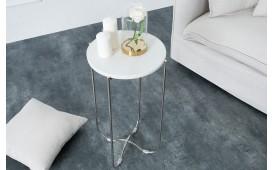 Tavolino d'appoggio di design MARMO WHITE