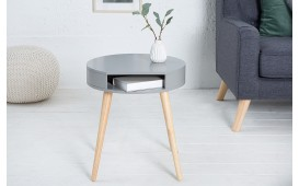 Tavolino d'appoggio di design MAN ROUND GREY