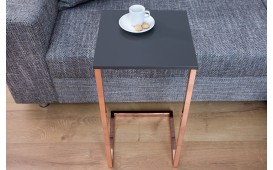 Table d'appoint Design SIMPO 60 cm ANTRACITE COPPER