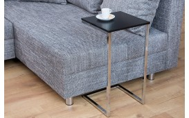 Tavolino d'appoggio di design SIMPO 60 cm BLACK SILVER