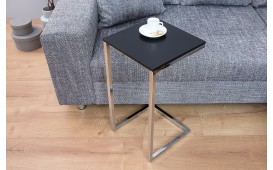 Table d'appoint Design SIMPO 60 cm BLACK SILVER