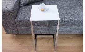 Table d'appoint Design SIMPO 60 cm WHITE SILVER