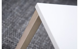 Tavolino d'appoggio di design SIMPO 60 cm WHITE SILVER