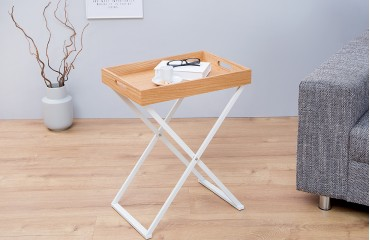 Table d'appoint Design LAVET OAK WHITE