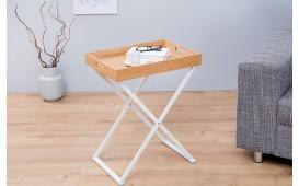Tavolino d'appoggio di design LAVET OAK WHITE