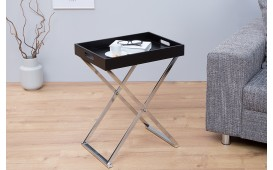 Table d'appoint Design LAVET BLACK SILVER