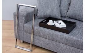 Tavolino d'appoggio di design LAVET BLACK SILVER