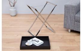 Table d'appoint Design LAVET BLACK SILVER