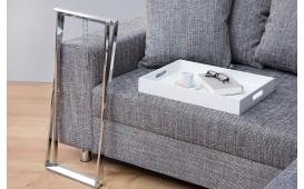 Tavolino d'appoggio di design LAVET WHITE SILVER