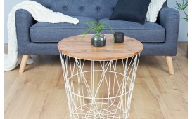 Table basse Design CAGE WHITE  52 cm