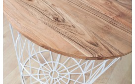 Tavolino di design CAGE WHITE  52 cm
