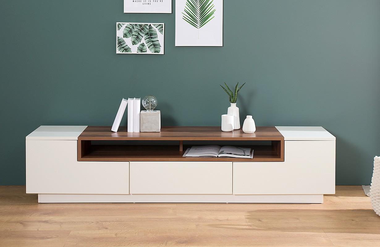 designer lowboard state walnut 180 cm einfach und g nstig online kaufen. Black Bedroom Furniture Sets. Home Design Ideas