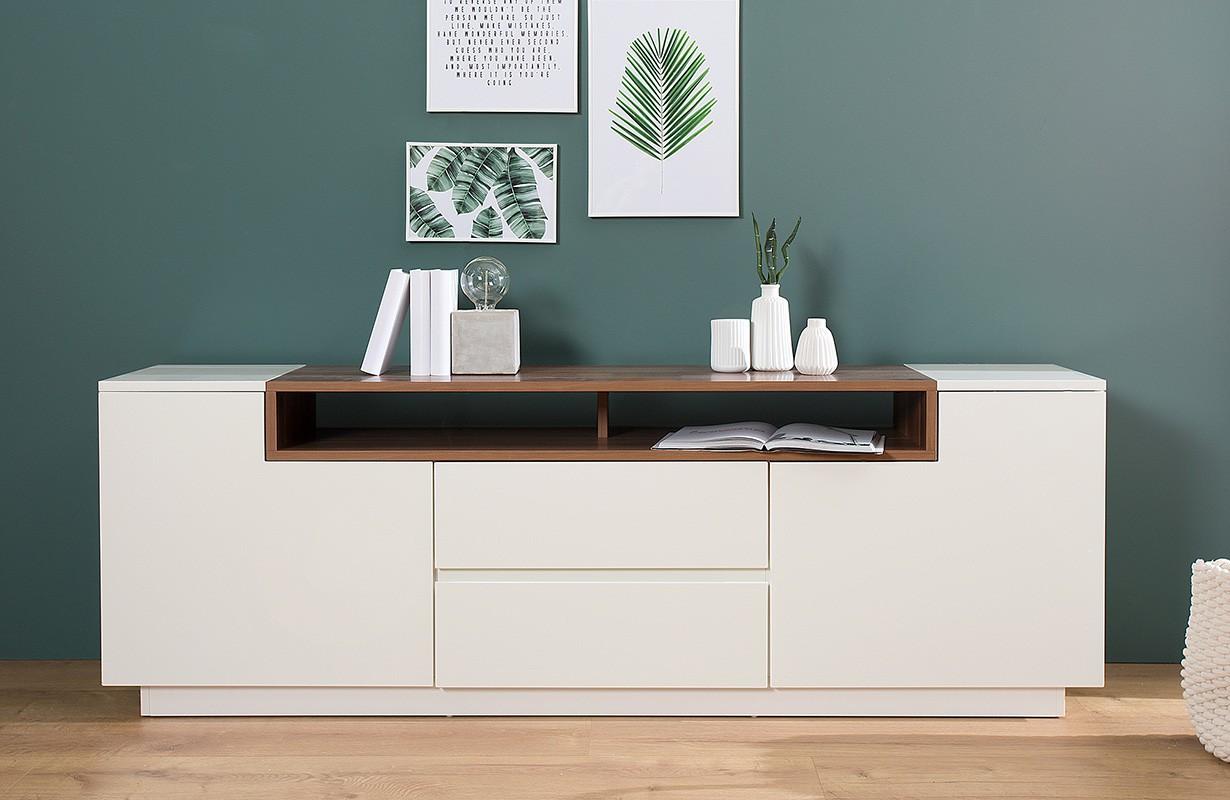 Designer Sideboard State Ii Walnut 180 Cm Einfach Und