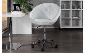 Fauteuil Lounge STYLE ROLL WHITE