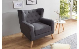 Designer Lounge Sessel HAAG ANTHRACIT