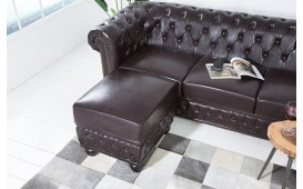 Designer Sitzhocker CHESTERFIELD DARK CUBE