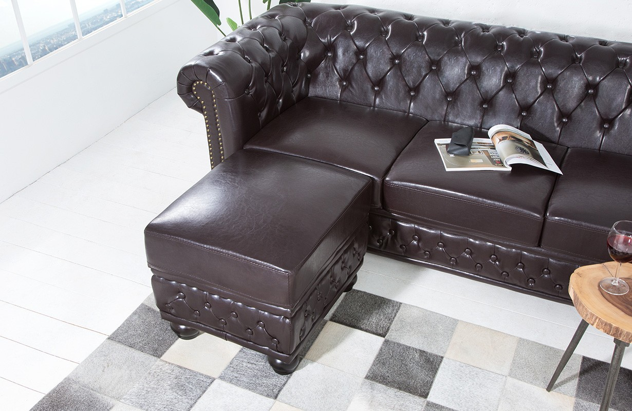 designer sitzhocker chesterfield dark cube designer bei nativo m bel schweiz g nstig kaufen. Black Bedroom Furniture Sets. Home Design Ideas