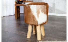 Designer Sitzhocker FUR BROWN