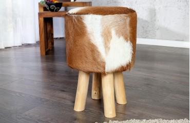 Designer Sitzhocker FUR BROWN NATIVO™ Möbel Schweiz