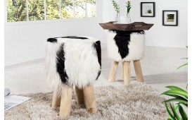 Tabouret Design FUR BLACK