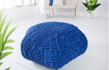 Pouf di design BOHO STAR BLUE