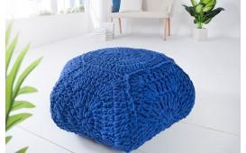 Designer Sitzhocker BOHO STAR BLUE